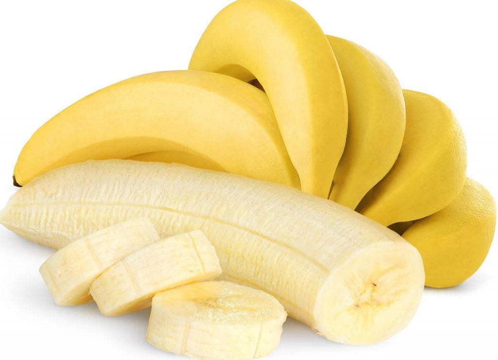 Bananas-sliced and peeled.